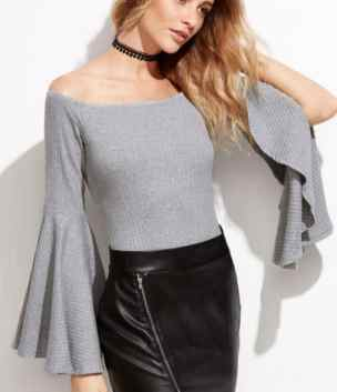 bell sleeve top, 15 Cute Bell Sleeve Top Outfits You Need