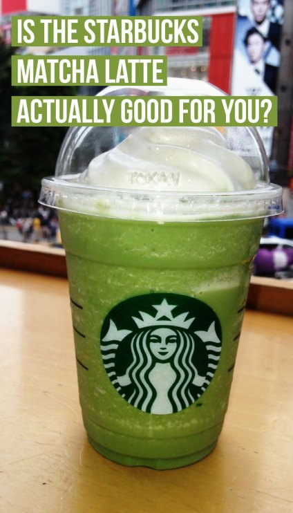 If you're wondering if the starbucks matcha latte is actually good for you, then here's the tea
