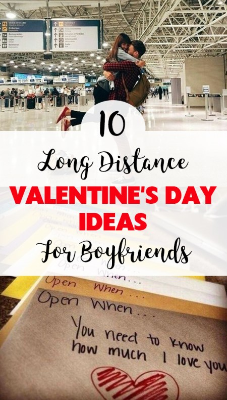 Try these long distance Valentine's Day ideas for boyfriends!
