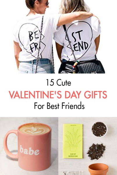 These are cute Valentine's day gifts for best friends!