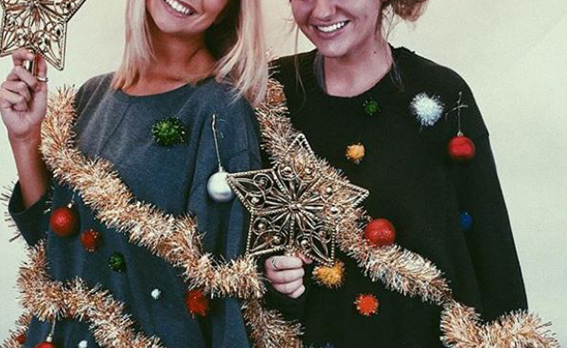 If you're looking for a cute but ugly Christmas tree sweater for your next holiday party, then this ugly sweater outfit is perfect !