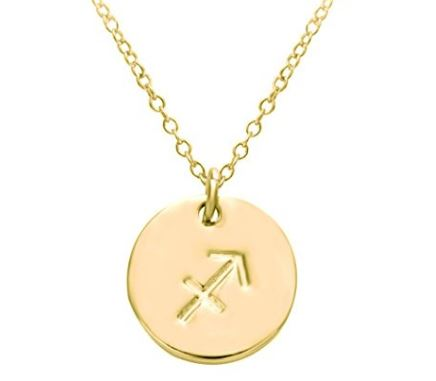 These zodiac sign necklaces are so cute!