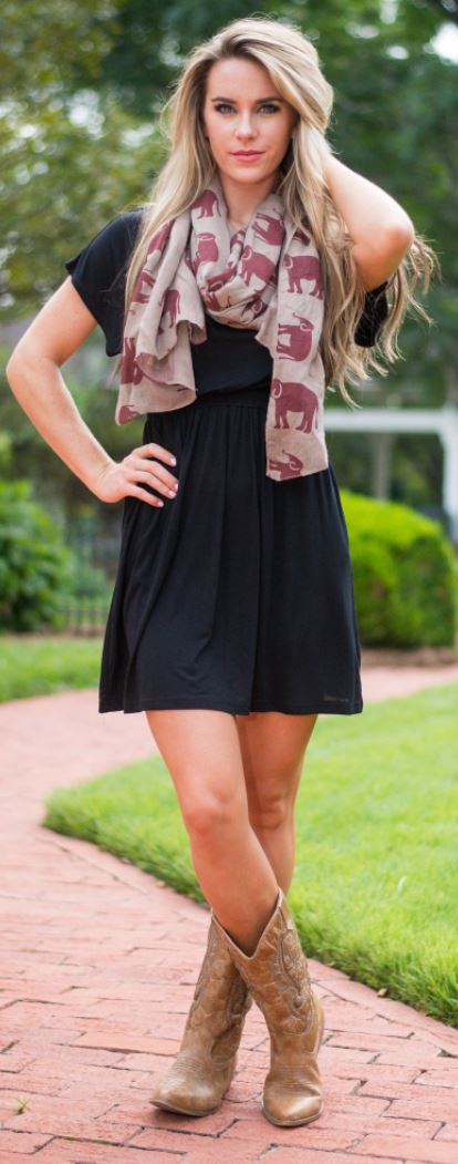 What dress to wear with cowboy boots