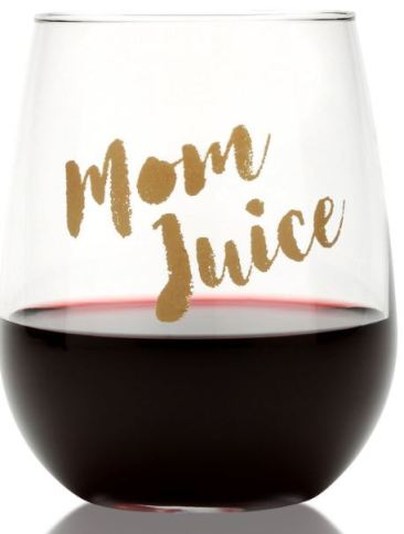 The wine glasses are cute gifts for new moms for mother's day!