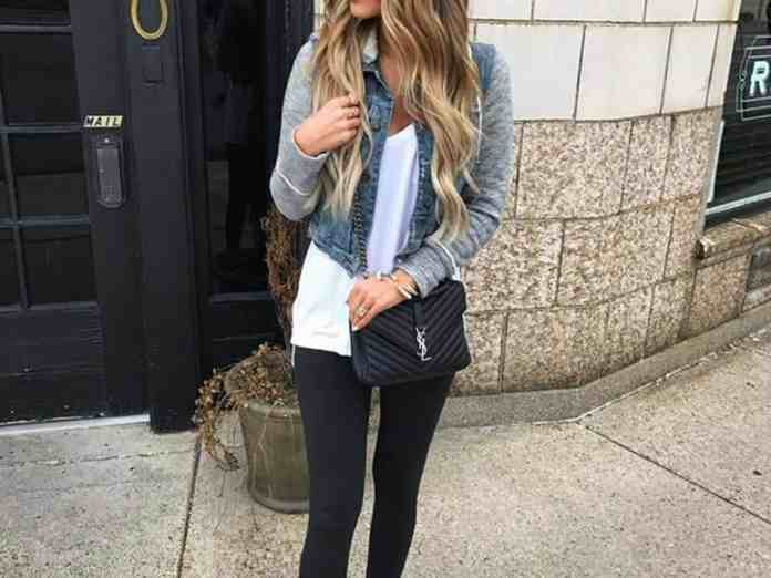 fa293aaf837 15 Jean Jacket With Leggings Outfits That We Can Not Get Enough Of ...