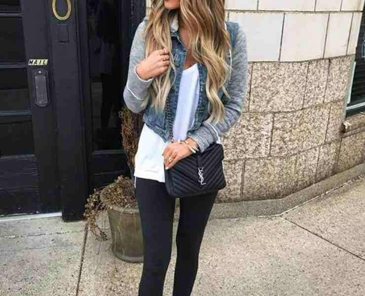 If there is any outfit that we love it's a good jean jacket and a pair of leggings. It's so versatile and we show you how you can rock it so many ways!