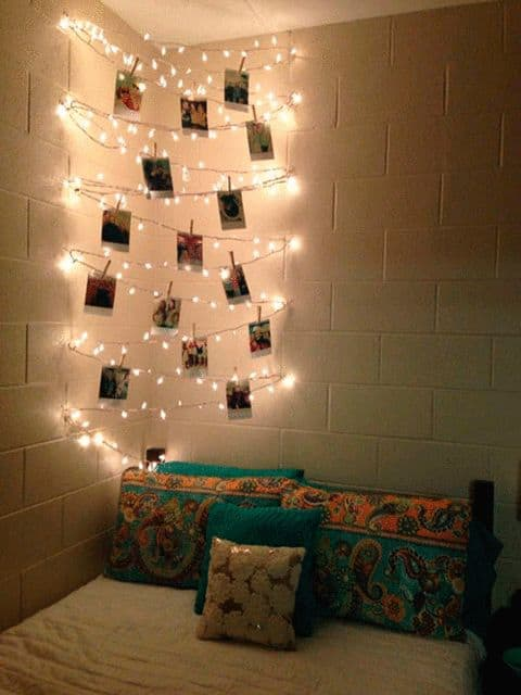 This is one of the dorm room decorating ideas that we love!