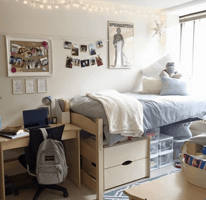 Check out these gorgeous college dorm rooms to use as inspiration to decorate yours. You'll get tons of ideas to decorate your dorm room!