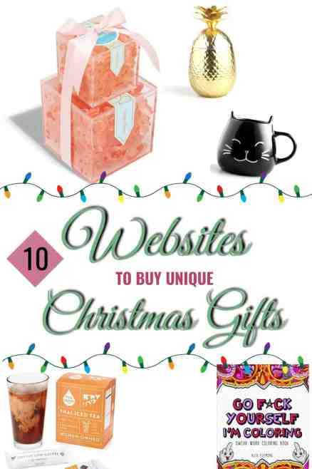 10 Websites To Buy Unique Christmas Gifts