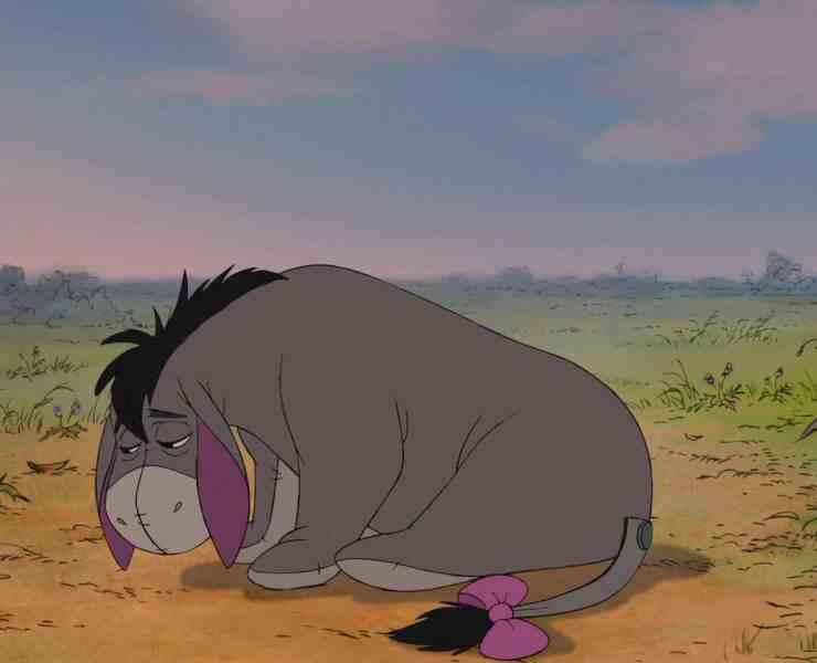 Eeyore is known as the loveable, yet gloomy, donkey from Winnie the Pooh. For a lot of us though, he's our spirit animal.