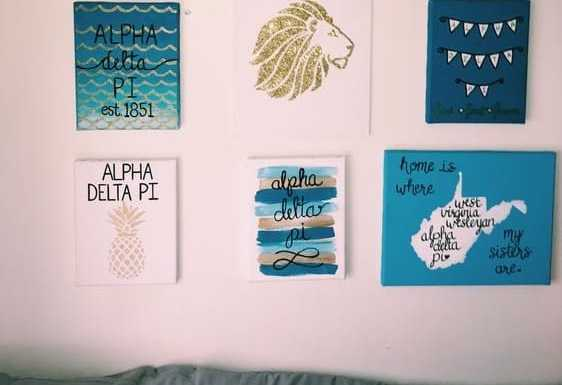 Rep your letters with some unique sorority canvas designs! Here are 10 adorable DIY canvases you can recreate.
