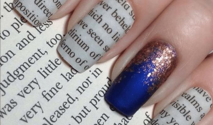 8 Literary Nail Art Designs You'll Love