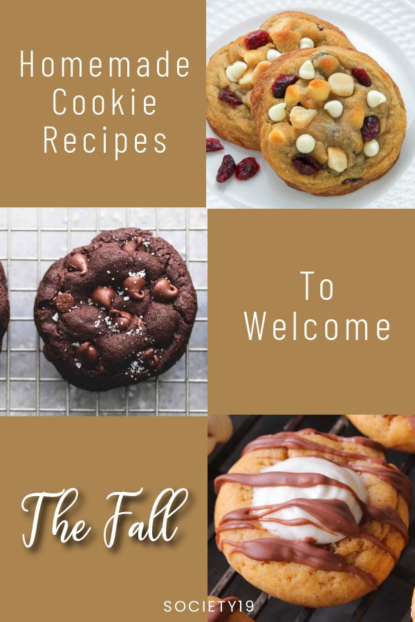 homemade cookie recipes, Homemade Cookie Recipes To Welcome The Fall