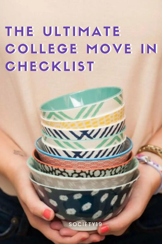 The Ultimate College Move In Checklist