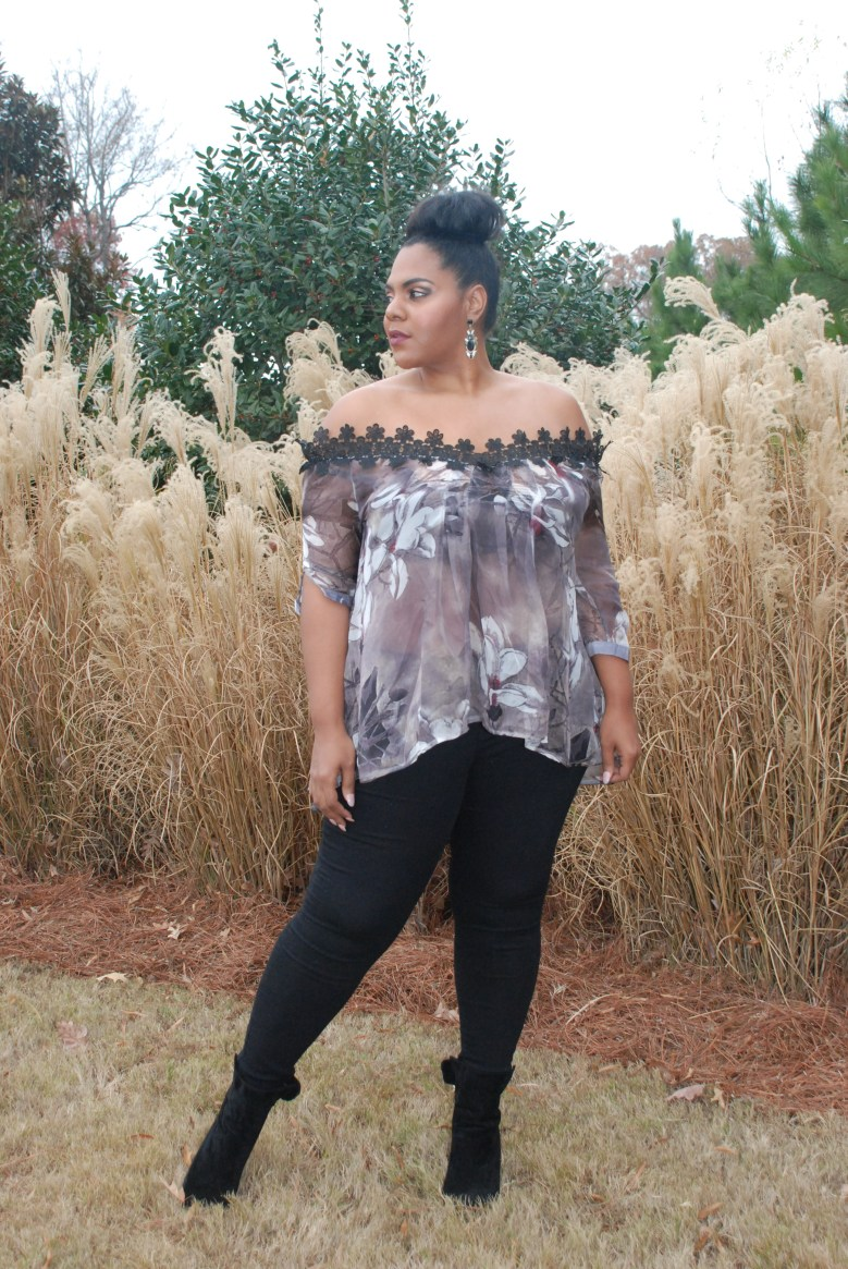 Sammy Dress Off-The-Shoulder Lace Blouse, Plus Size