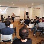 Elena Martín en una jornada de emprendedores de la USAL