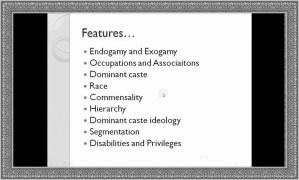 features of caste sytem