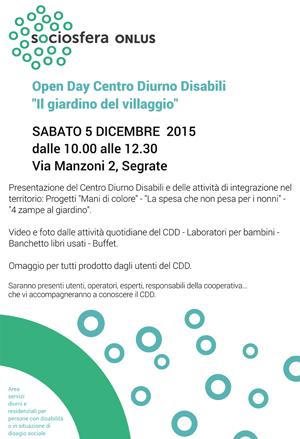 Open Day CDD - Il giardino del villaggio - Segrate