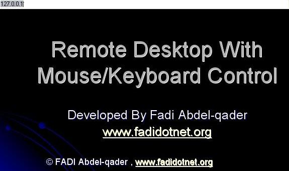 Remote Desktop With Keyboard/Mouse Features