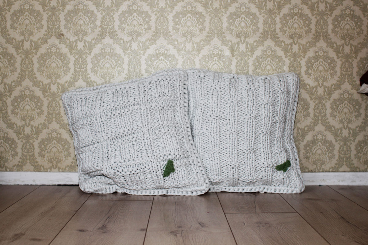 kissen_stricken_hoooked_01 textilgarn selber herstellen Anleitung: Textilgarn selber herstellen