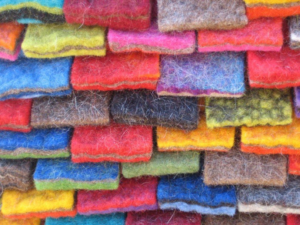 Filzriegel für den Teppich von Barbara Müller Wollmarkt Wollmarkt 2013 in Euskirchen-Kuchenheim