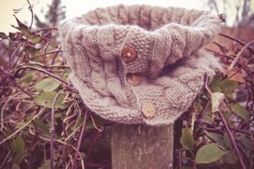 cowl schal stricken Anleitung: Cowl Schal stricken aus Kaschmir