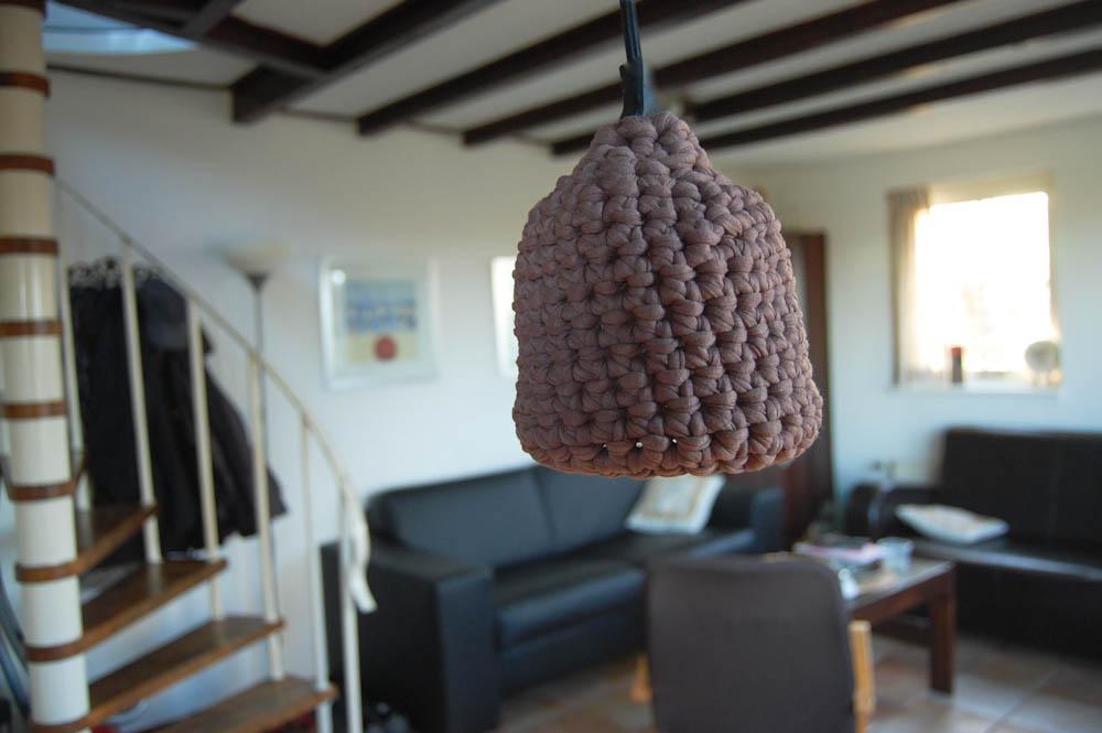Lampe Schirm Textilgarn fadenring häkeln Tipp: Fadenring häkeln, Magic Loop häkeln