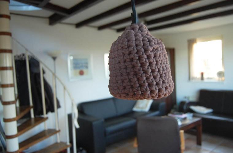 Lampe Schirm Textilgarn