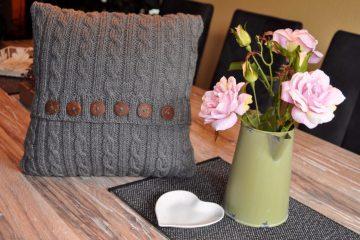 Kissen stricken nach Anleitung von sockshype Leserzusendung von Marina E  Leserzusendung: Kissen stricken