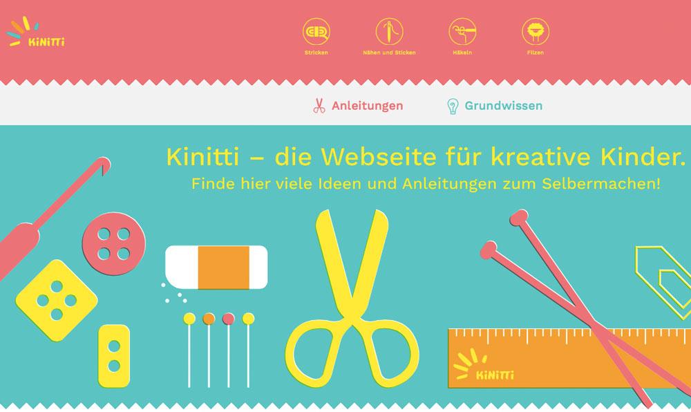Kinitti-Titelbild kinder und handarbeiten Im Fokus - Kinder und Handarbeiten