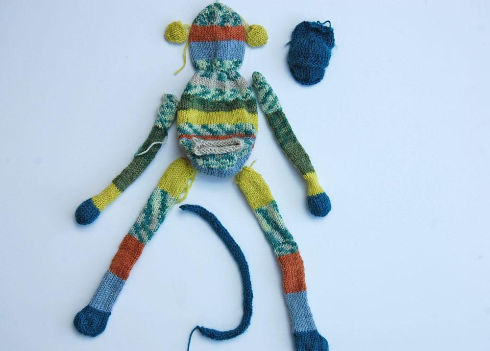 Strickanleitung-Affe-Paulchen---Einzelteile strickanleitung affe Strickanleitung Affe Paulchen
