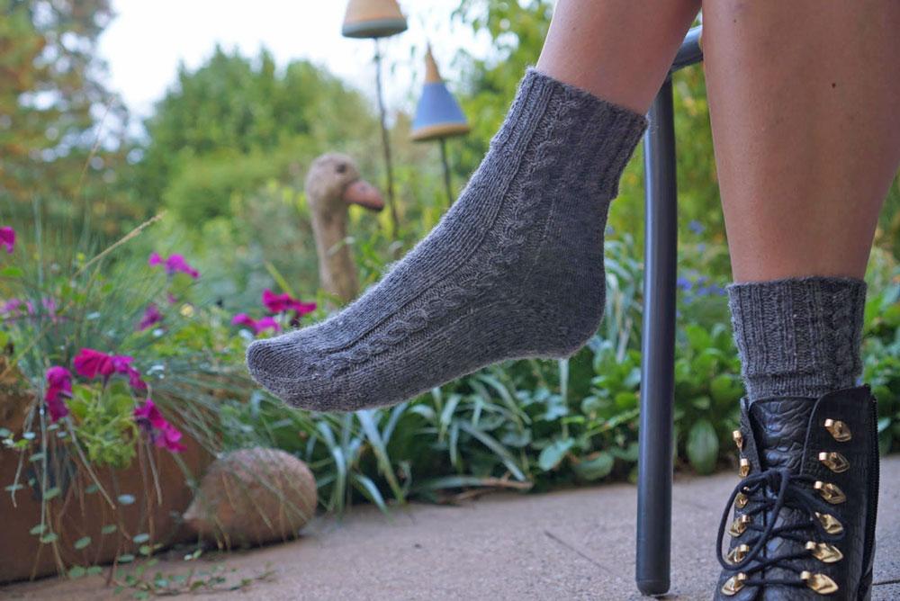 addi sockenwunder - Fuß stricken  Anleitung: Socken stricken mit dem addi Sockenwunder