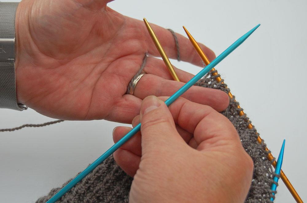 addi Colibris - richtige Nadelspitze vorne  Stricktipp: addiColibris - richtige Spitze bei Nadelwechsel
