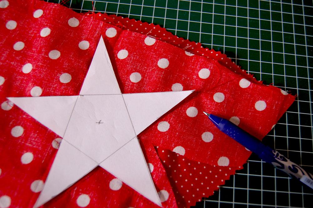 Christmas star sewing pattern  Tutorial: Christmas star sewing pattern