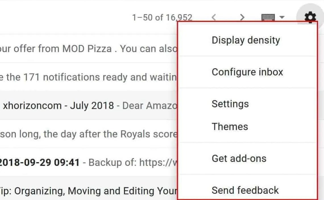 The ability to revert back to Classic view of Gmail has been removed