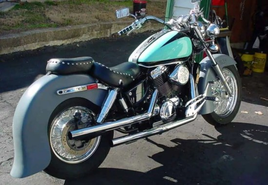 My Honda Shadow ACE 1100 with custom fiberglass fenders from Sumax