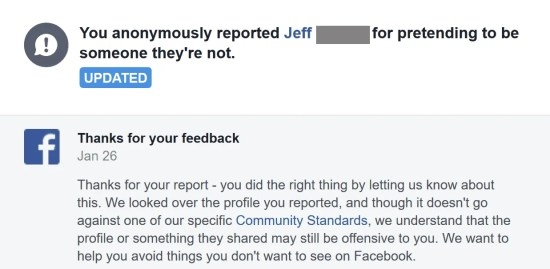 Your Facebook support inbox is where you can monitor any reports of fake friend requests or fake profiles