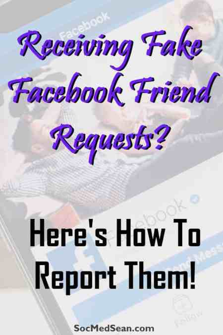 Instructions on the process of reporting a fake Facebook friend request in order to stop hackers from gaining access to personal data