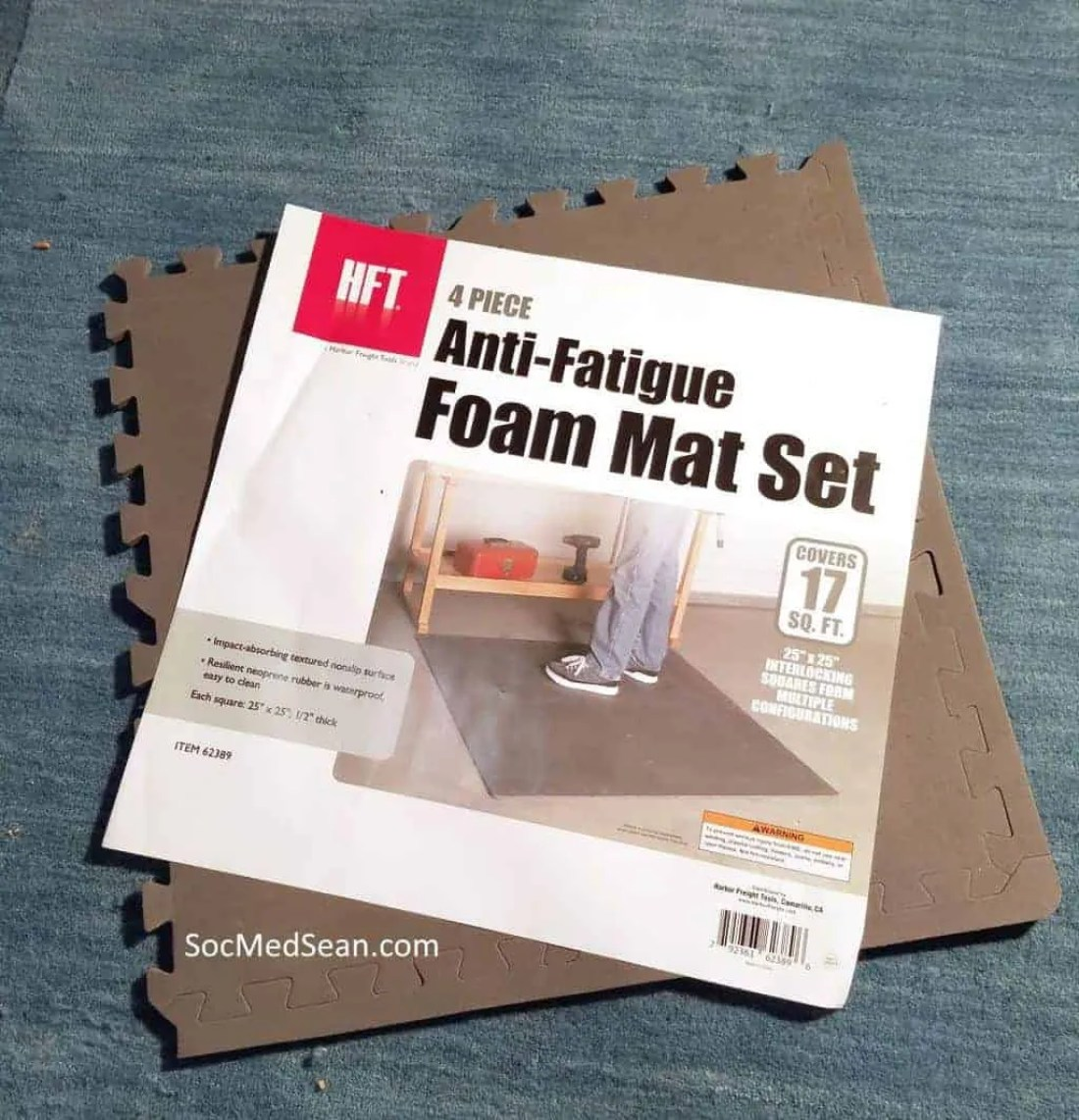 I use this craft foam from Harbor Freight because it is nice and dense and inexpensive