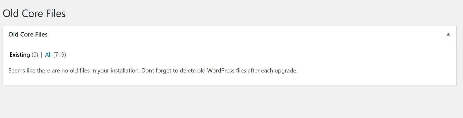 The Old Core Files plugin can help you remove unnecessary WordPress files that are obsolete