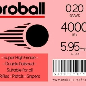 20 Bags Of Proball 0.20g Airsoft 6mm BBs (400)
