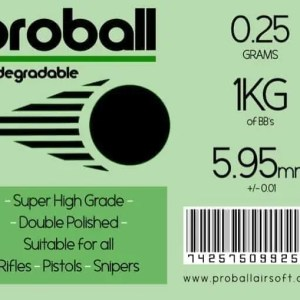 20 Bags Of Proball 0.25g (4000) Biodegradable Airsoft 6mm BBs