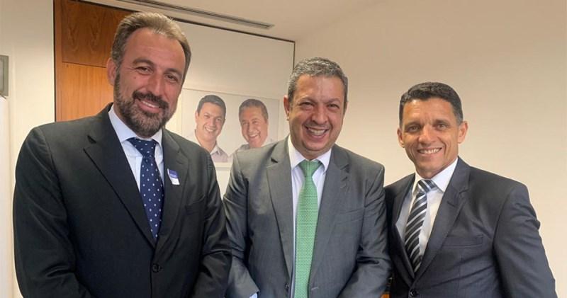 Prefeito André Bozola, Deputado Federal Ricardo Izar e Secretário de Saúde Ricardo Lopes