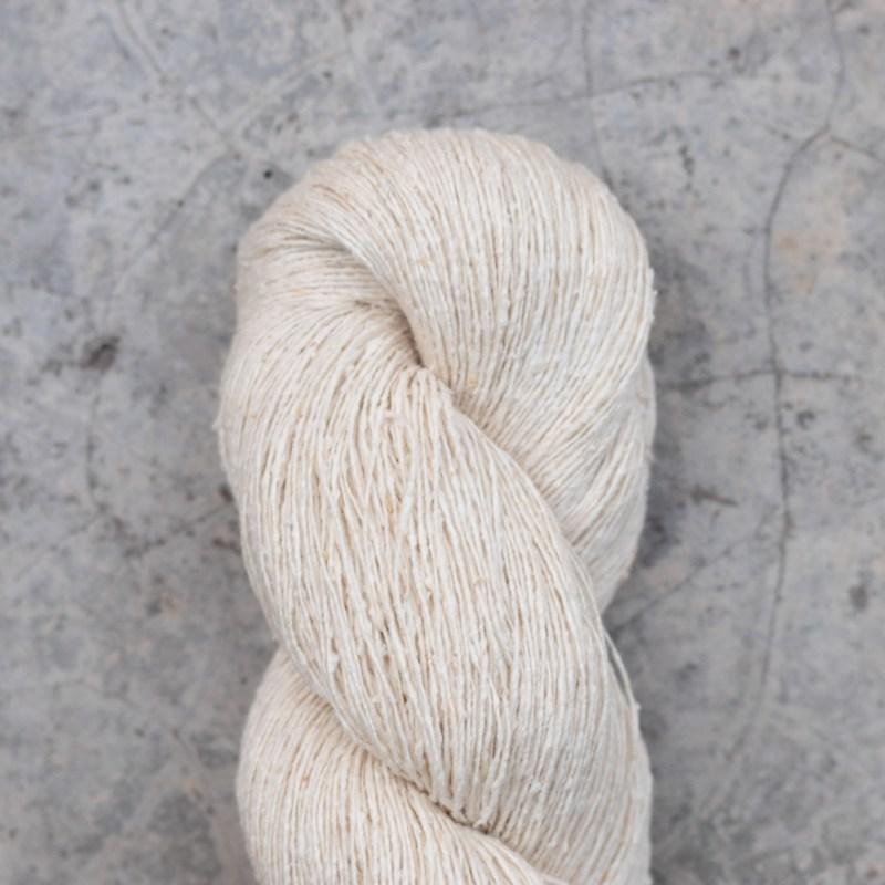 white skein of yarn