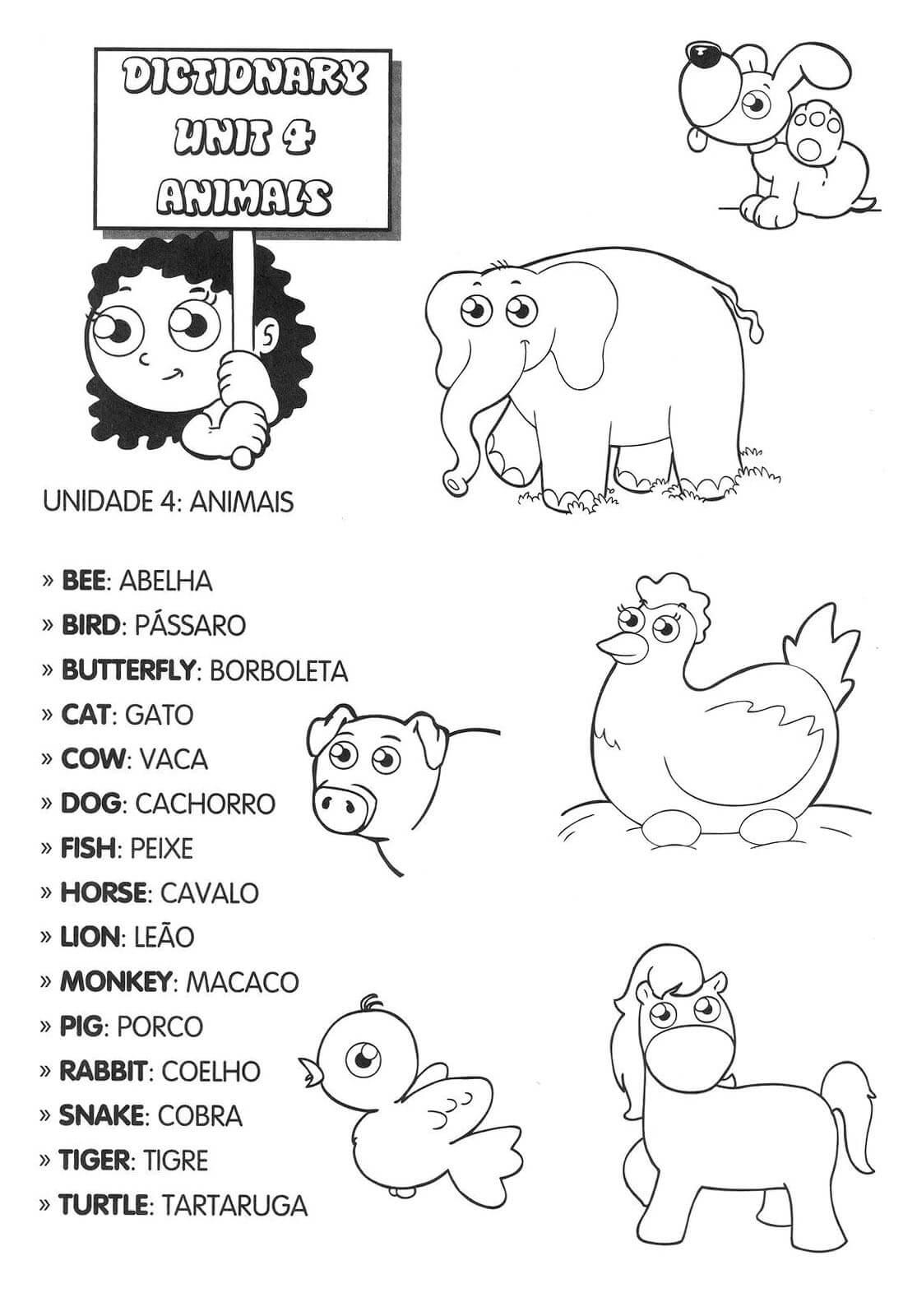 Atividade De Ingles Para Educacao Infantil Primeiros Contatos