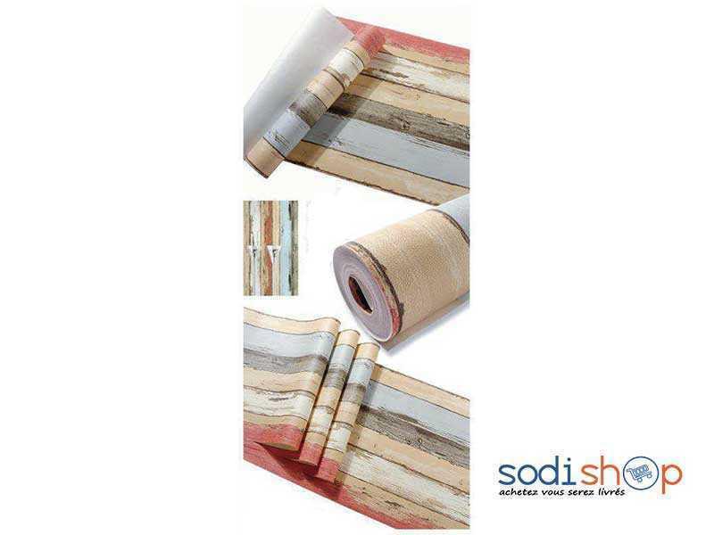 papier peint imitation bois multicolore pour plusieurs decorations interieure ak0028