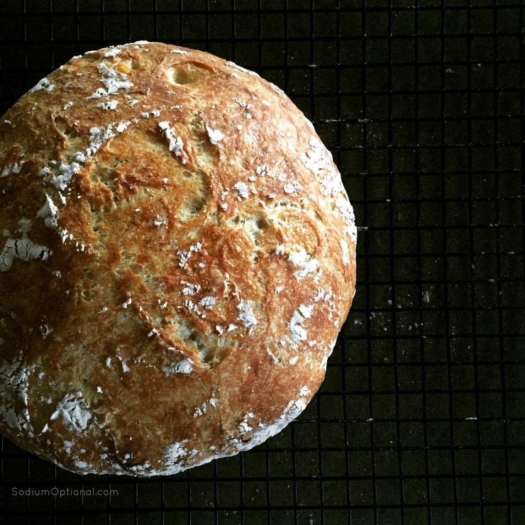 Easy Crusty Bread - Low Sodium