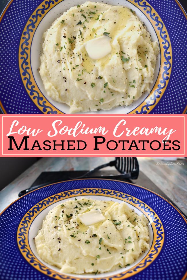 Low Sodium Creamy Mashed Potatoes
