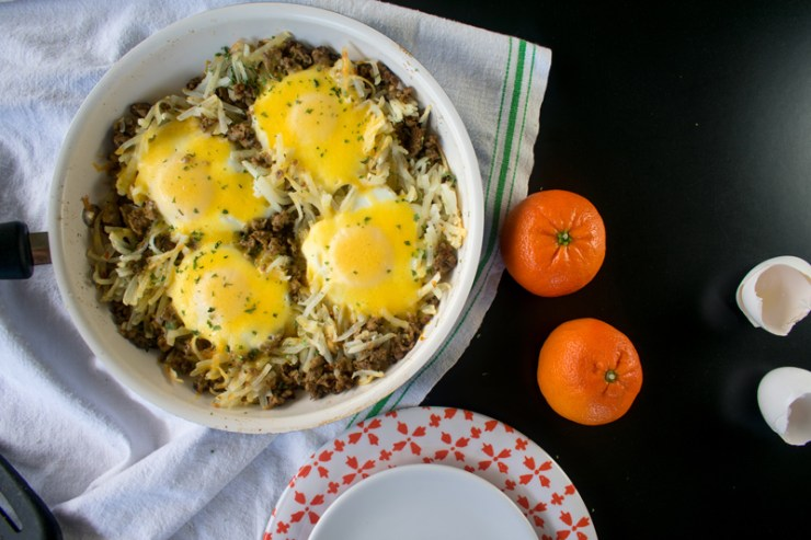 Low Sodium Sausage, Egg, & Cheese Hash Brown Skillet