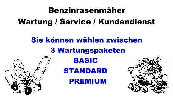 Super Rasenmäher Kundendienst - Sie entscheiden wie umfangreich die #YJ_17